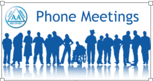 You are currently viewing AA – Alcoholics Anonymous – Daily Phone Meetings – Thursdays