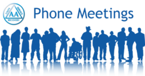 AA Phone Meeting Color Logo