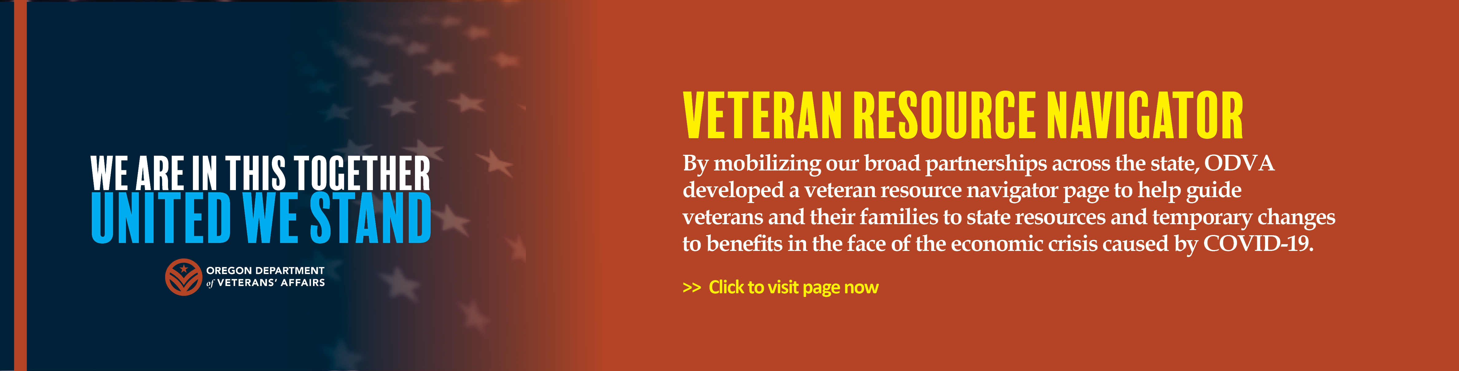 ODVA (Oregon Department of Veterans' Affairs): Veteran Resource Navigator – Daily