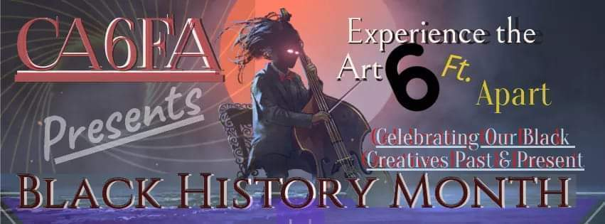 Black History Month online Art event – Monday –  Feb 15 at 11 AM PST –  Sunday – Feb 28 at 9 PM PST