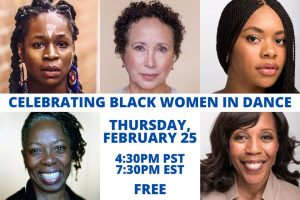 WHITE BIRD PROUDLY PRESENTS:  A CELEBRATION OF BLACK WOMEN IN DANCE  THURSDAY, FEBRUARY 25TH @ Online Via ZOOM