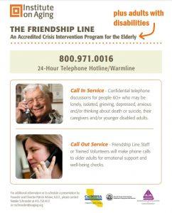 Warmline - IOA - Institute on Aging - The Friendship Line - 24/7 @ Telephone