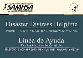 SAMHSA Disaster Distress Hotline text